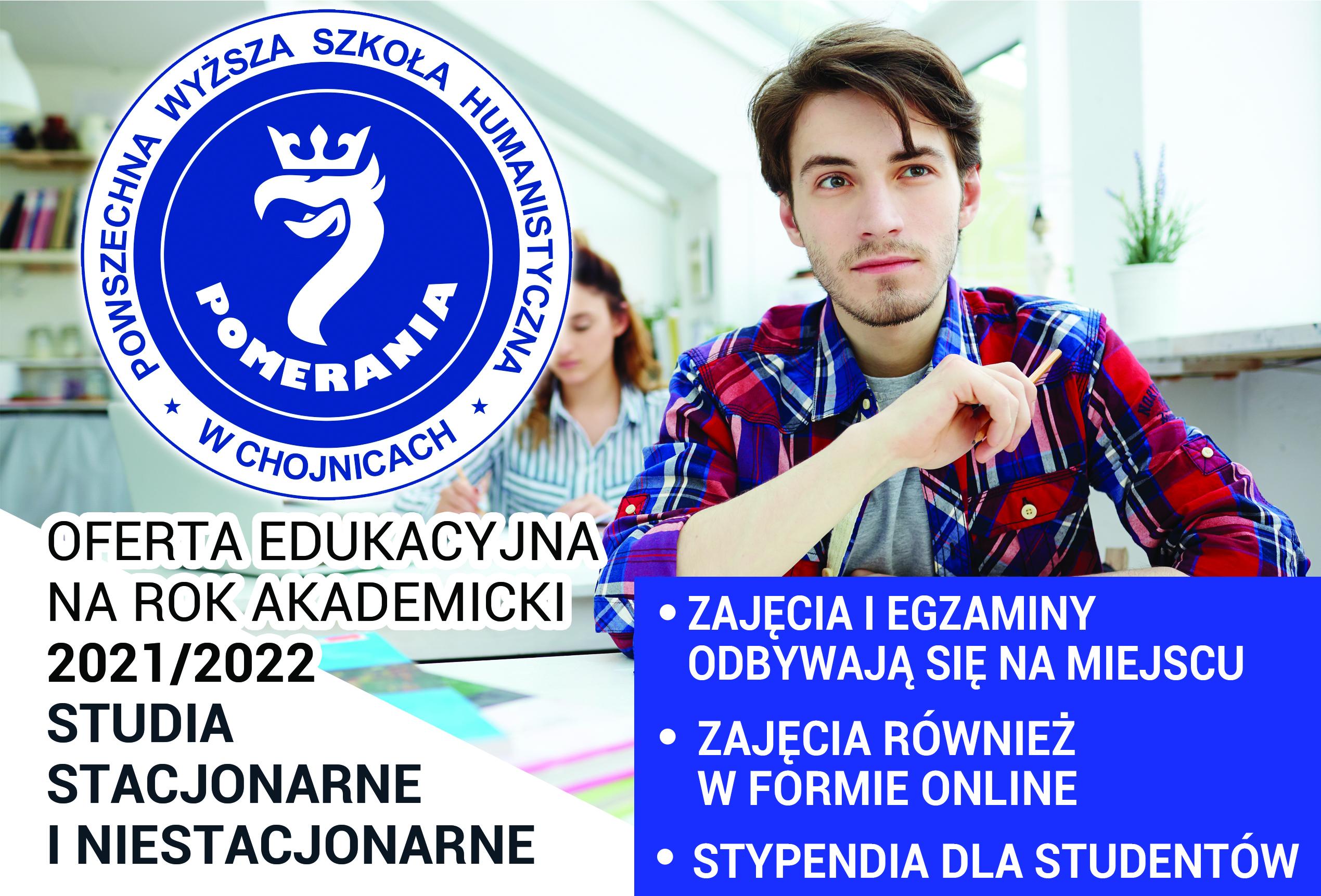 Oferta edukacyjna na rok akademicki 2021/2022